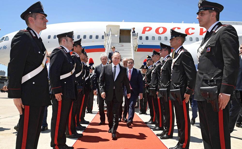 Владимир Путин прибыл в Италию