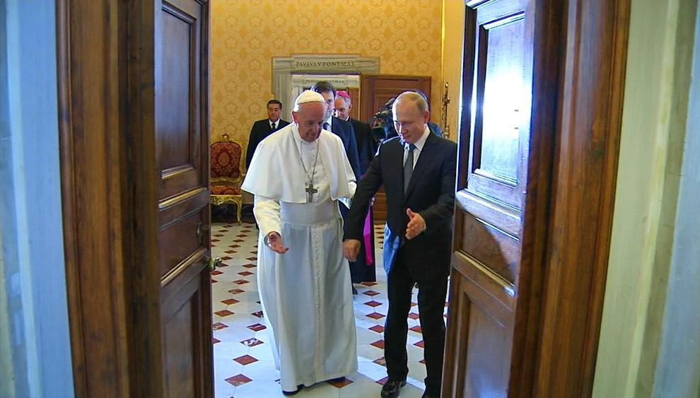 Папа Римский и Владимир Путин