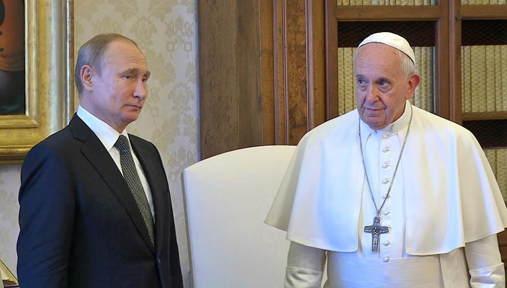 Владимир Путин и Папа Римский Франциск