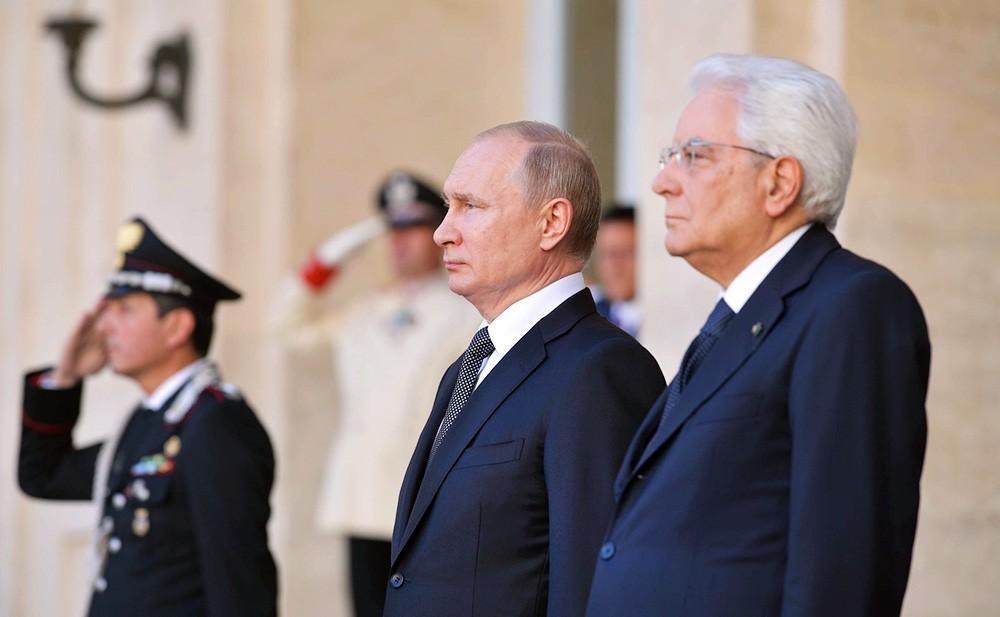 Владимир Путин и Серджо Маттареллой