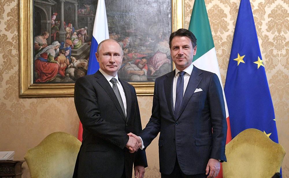 Владимир Путин и Джузеппе Конте