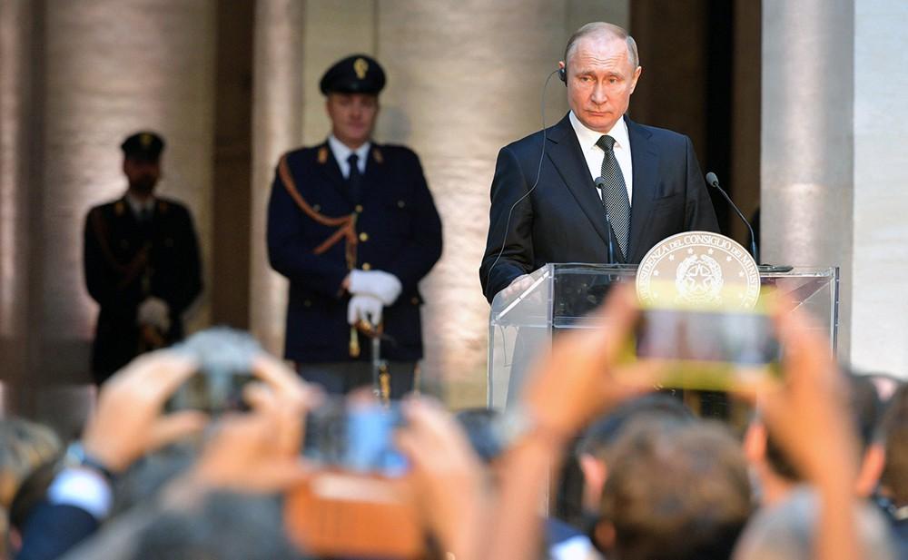 Владимир Путин в Италии