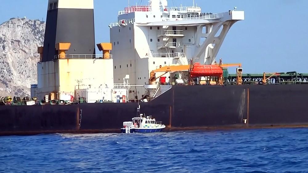 Иранский танкер задержанный военными Великобритании