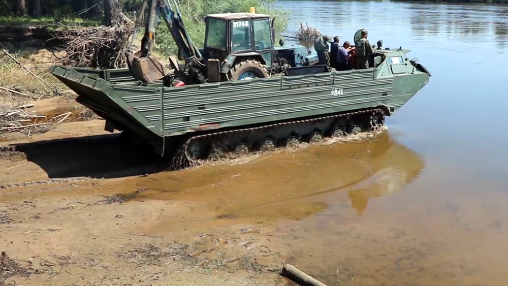 Работы в зоне наводнения