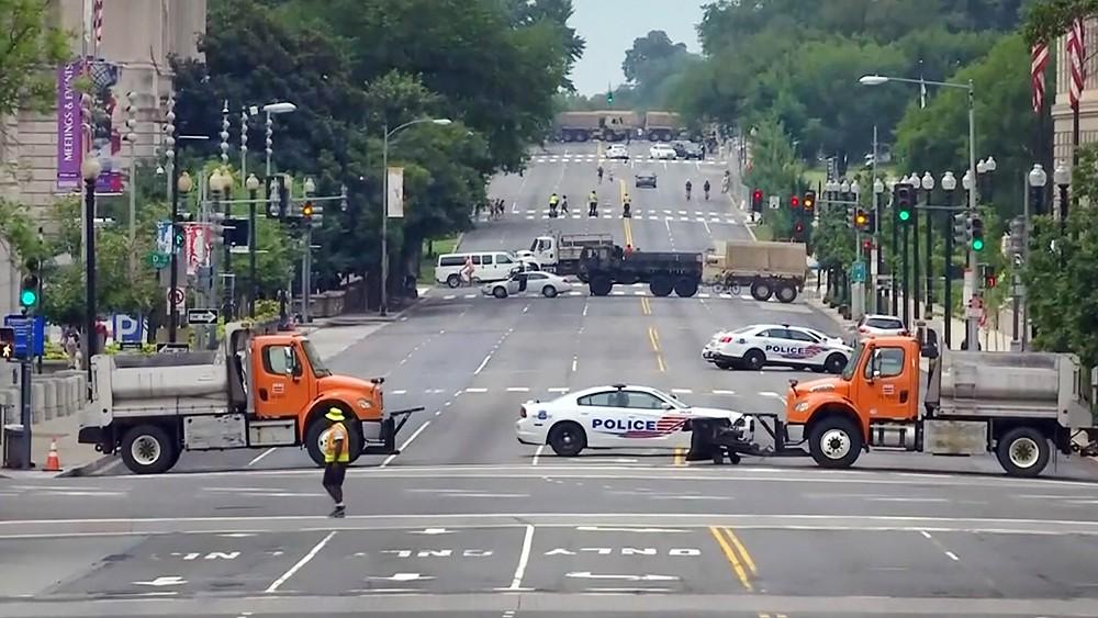 Перекрытие дорог в США