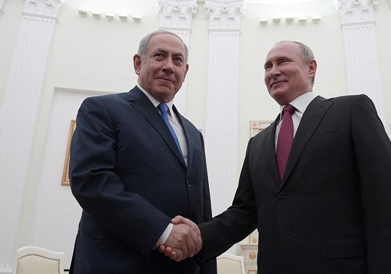 Владимир Путин и премьер-министр государства Израиль Биньямин Нетаньяху