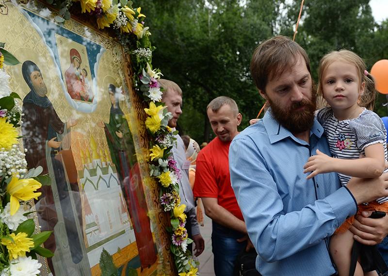 Крестный ход, посвященный Дню семьи, любви и верности
