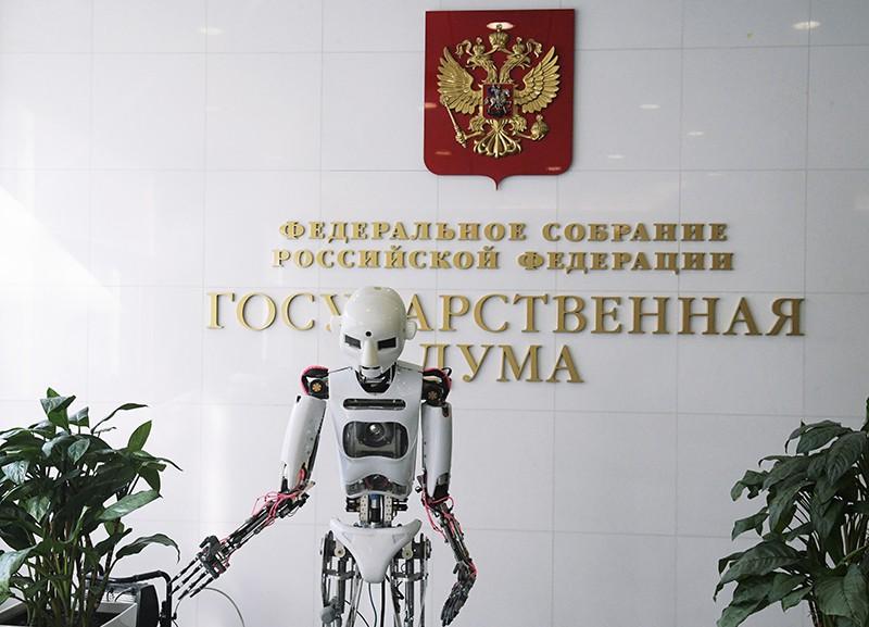 Робот Теспиан в холле Государственной Думы России