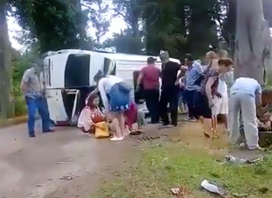 Последствия ДТП с туристами из России в Абхазии