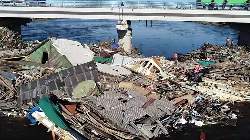 Последствия паводка в Иркутской области