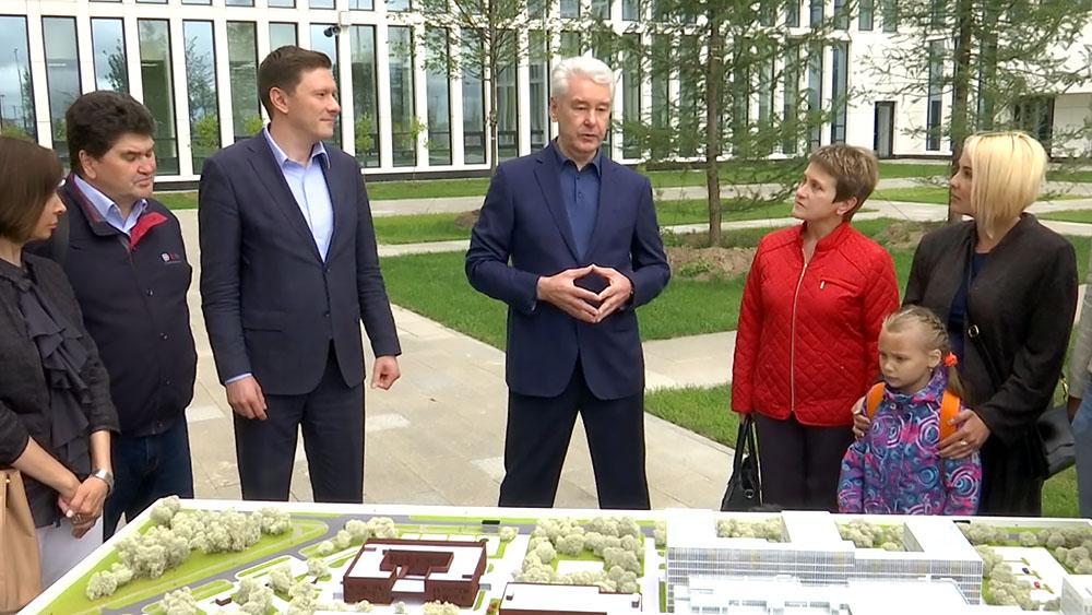 Сергей Собянин на открытии новой больницы