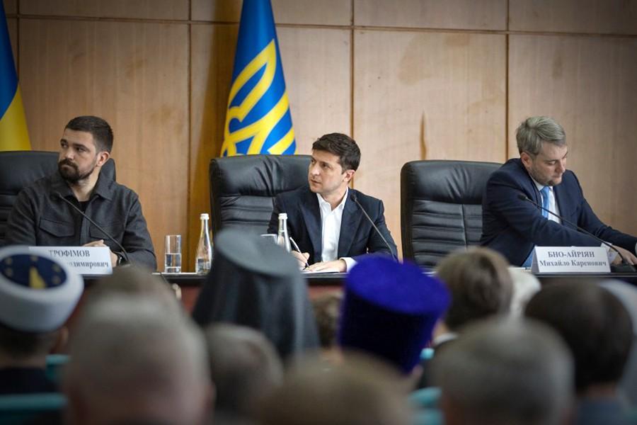 Владимир Зеленский на заседании