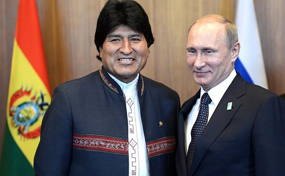 Владимир Путин и Эво Моралес