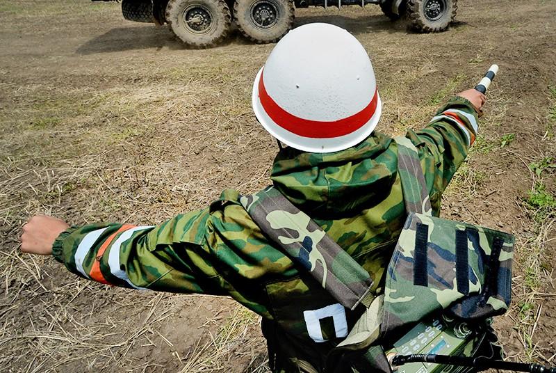 Военнослужащий - регулировщик