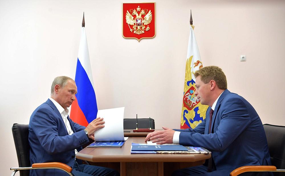 Владимир Путин и Дмитрий Овсянников