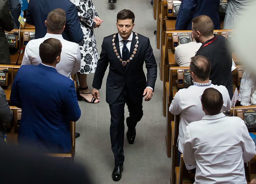 Владимир Зеленский в Верховной Раде Украины