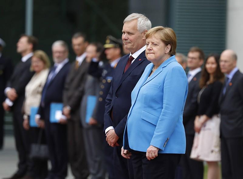 Ангела Меркель и Антти Ринне