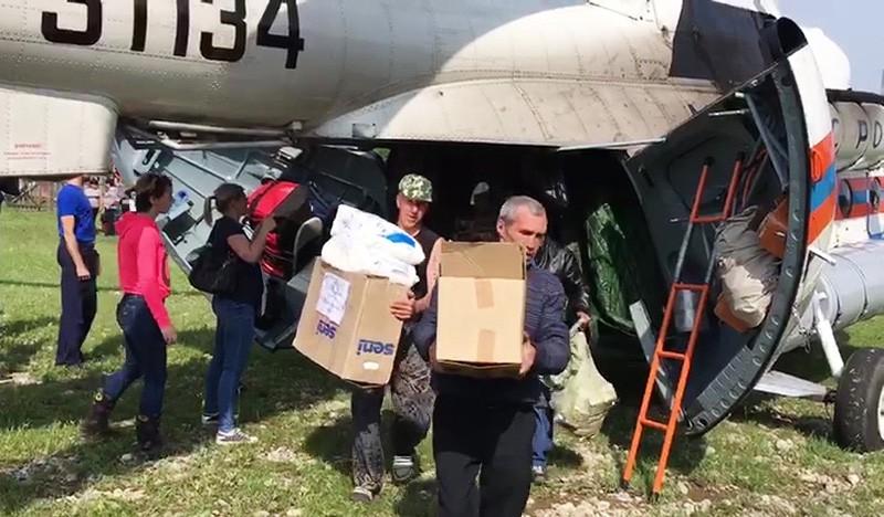 Гуманитарную помощь пострадавшим из зоны подтопления в Иркутской области