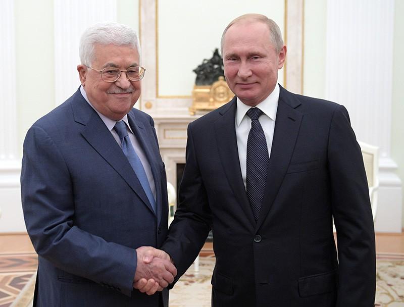 Владимир Путин и президент государства Палестина Махмуд Аббас