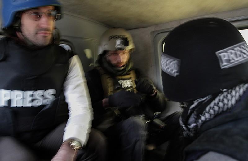 Военные корреспонденты на юго-востоке Украины