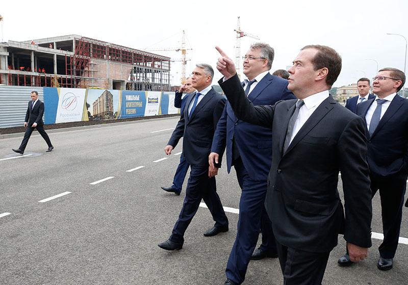 Рабочая поездка Дмитрия Медведева в Ставрополь