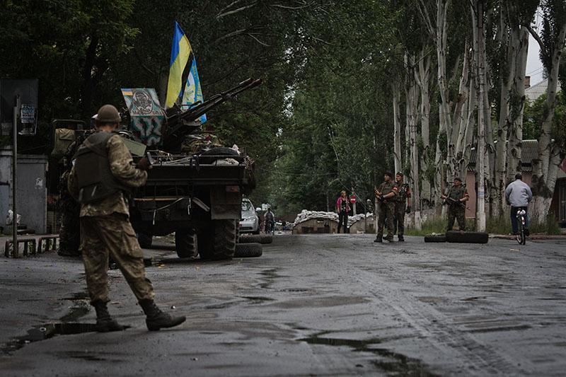 Боевые действия на юго-востоке Украины. Славянск, 2014 год
