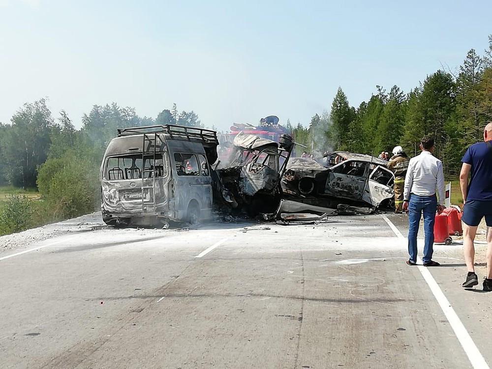 Последствия ДТП с участием микроавтобусом