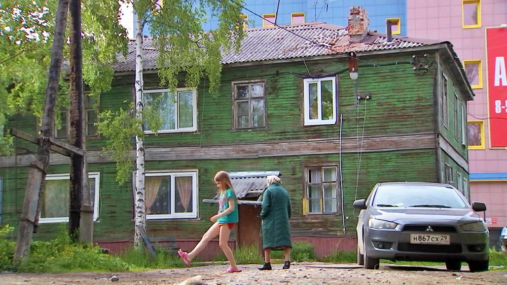 Деревянный барак в Архангельске