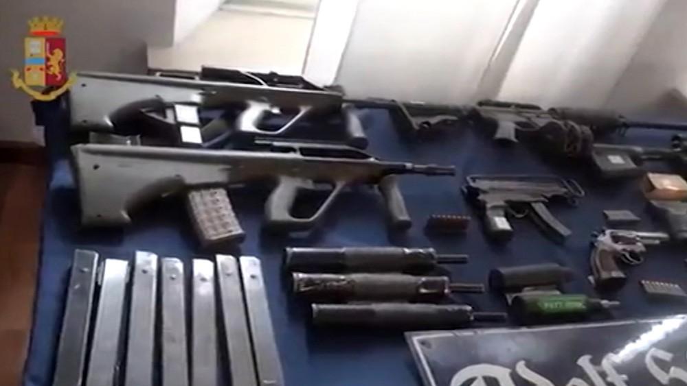 Изъятое оружие у итальянских радикалов