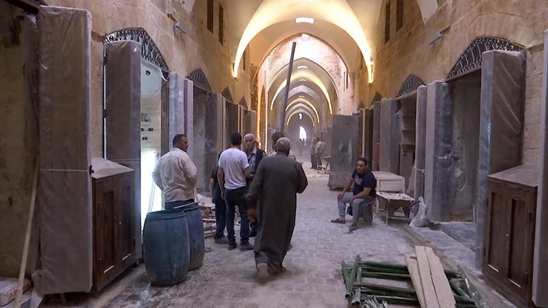 Восстановление древнего рынка в Сирии