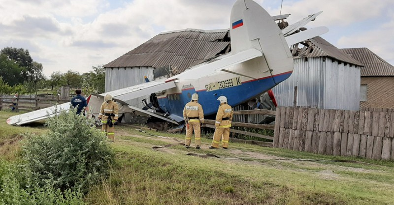 Падение легкомоторного самолета