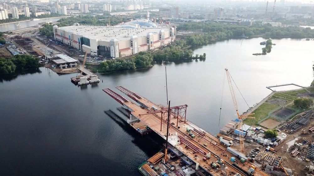 Строительство автомобильного моста через Кожуховский затон