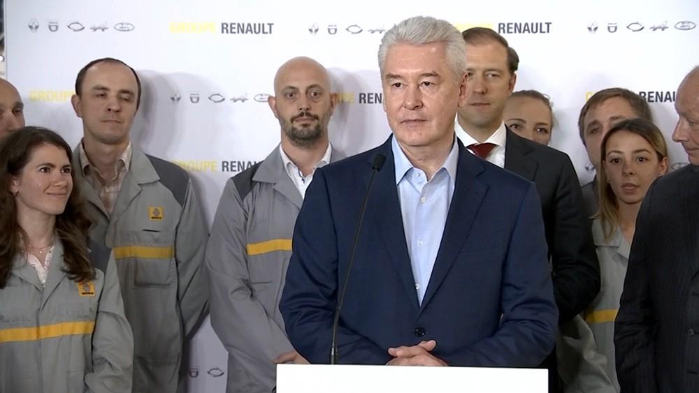 Сергей Собянин на заводе Renault