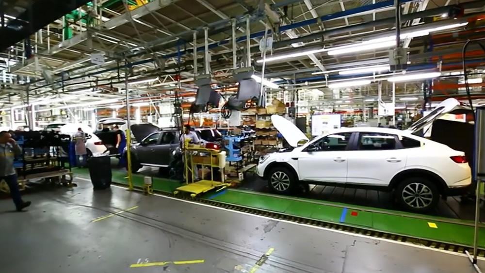 Сборочный цех на заводе Renault