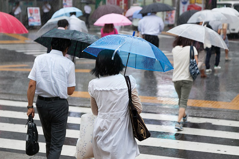 Ливень в Японии