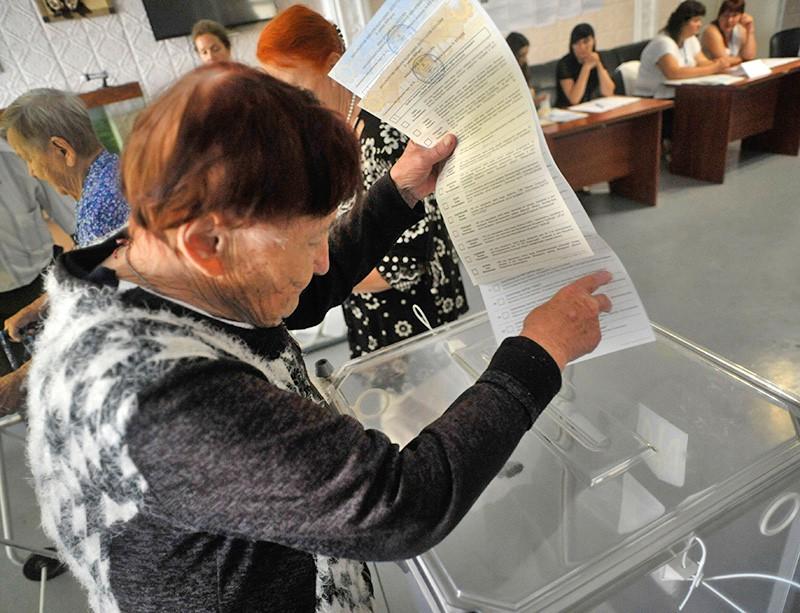 Голосование на досрочных выборах в Верховную раду Украины