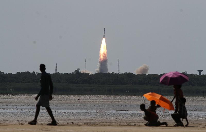 Запуск ракеты в Индии