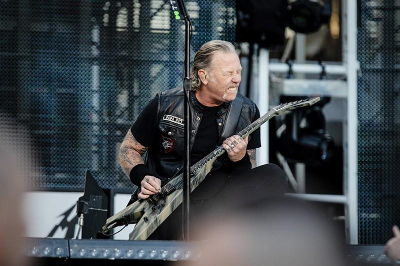 Выступление группы Metallica