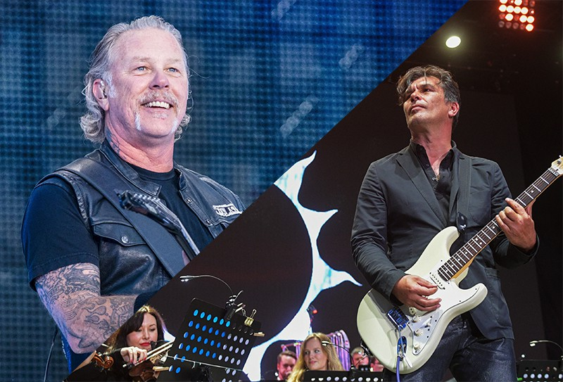 Коллаж: Американская метал-группа Metallica и Юрий Каспарян