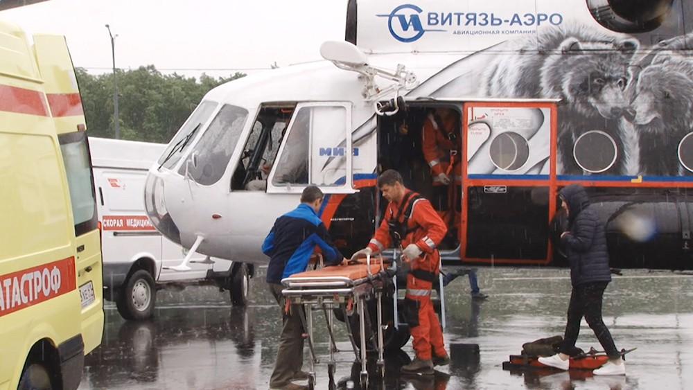 Вертолет МЧС на Камчатке