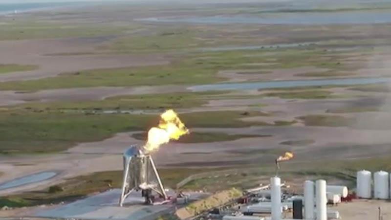 Пожар на экспериментальном корабле Space X