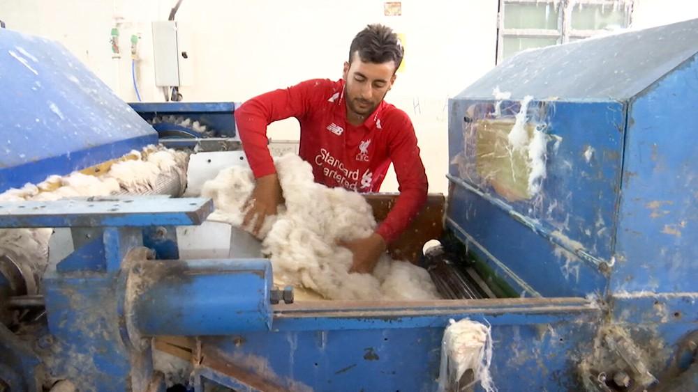 Завод по переработке тканей в Сирии