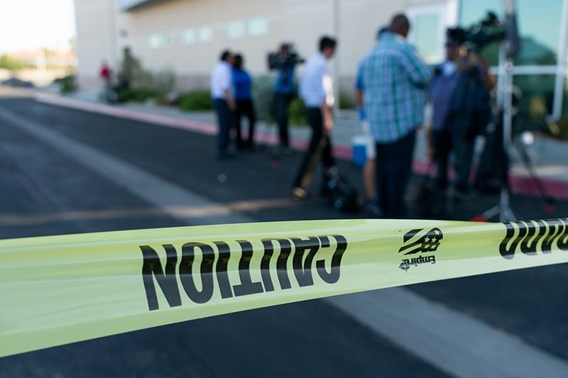 Место стрельбы в Калифорнии