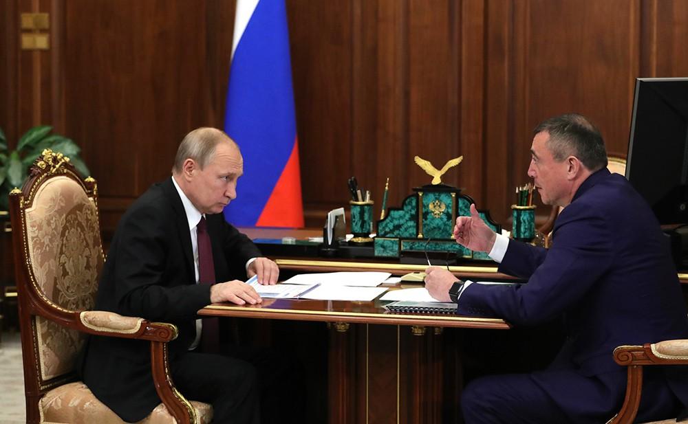 Владимир Путин и Валерий Лимаренко