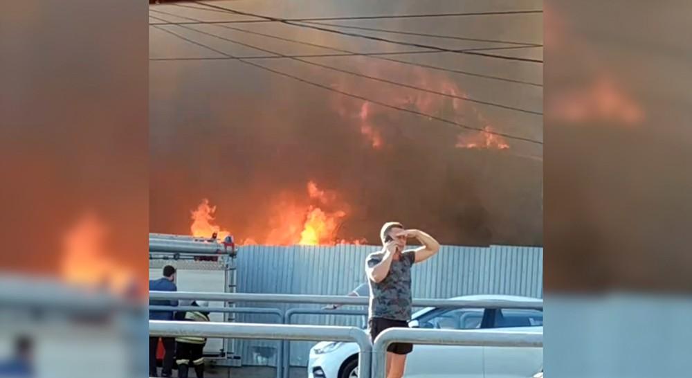 Пожар в жилых домов в Самаре