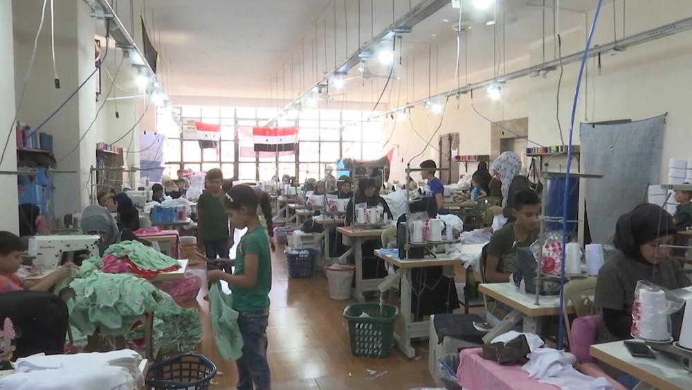 Фабрика детской одежды в Сирии