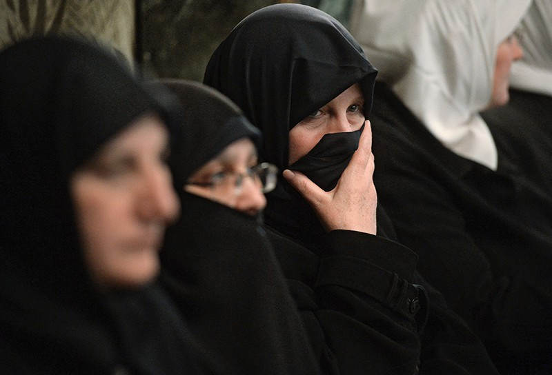 Мусульманские жены в паранджах