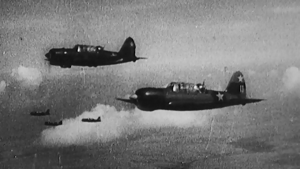 Архивные кадры Второй мировой войны. Советская авиация