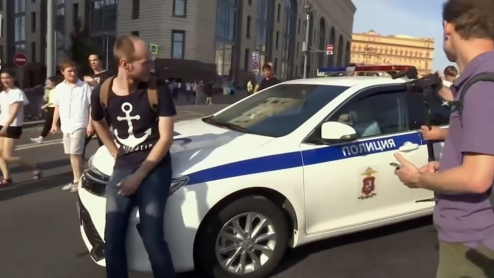 Несогласованный митинг в Москве
