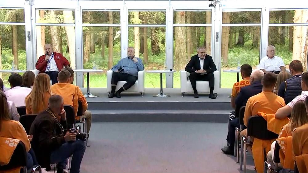 """Лидеры думских фракций посетили форума """"Территория смыслов"""""""
